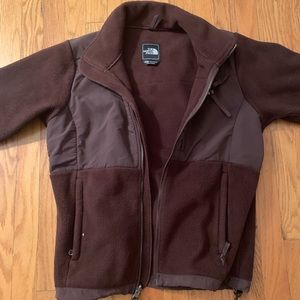 NORTH FACE FLEECE- chocolate brown